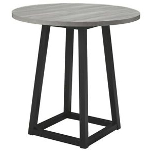 Saltoro Sherpi Round Wooden Counter Height Dining Table Pertaining To Best And Newest Barra Bar Height Pedestal Dining Tables (View 14 of 25)