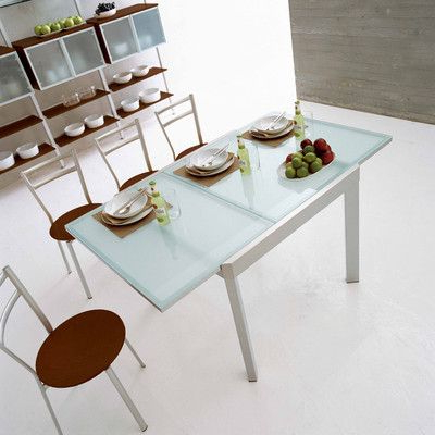 Satin Finished Steel Frame Tempered Frosted Glass Table Within Well Known Naz (View 2 of 25)