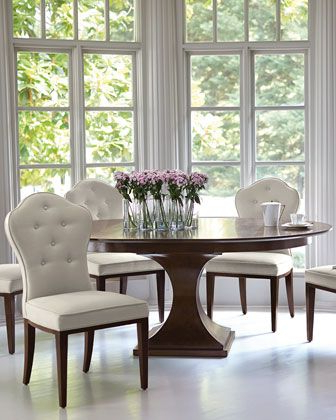 Serrato Pedestal Dining Tables Within Well Known Bernhardt Haven 54 Round Dining Table With Leaf (View 23 of 25)