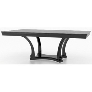 Sevinc Pedestal Dining Tables Pertaining To Favorite Canadel Classic Customizable Rectangular Dining Table With (View 20 of 25)
