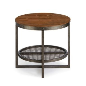 Sheridan End Table – Solid Pine Top Metal Frame – Modern Throughout Well Known Cammack (View 11 of 25)
