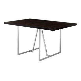 Shop Cappuccino Finish Mdf/chrome Metal 36 Inch X 60 Inch Intended For Well Known Menifee 36'' Dining Tables (View 14 of 25)