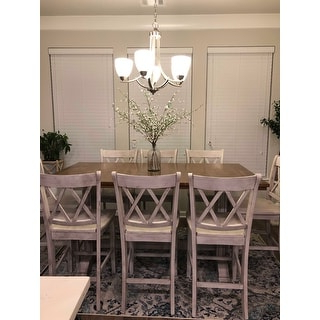 Shop Eleanor Solid Wood Counter Height Trestle Base Dining Inside Widely Used Nakano Counter Height Pedestal Dining Tables (View 18 of 25)
