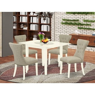 Shop Nfga5 Mah 32 5 Pc Dinette Set 4 Parson Chairs And With Latest Mcmichael 32'' Dining Tables (View 16 of 25)