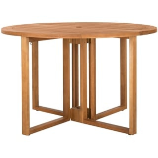 Shop Outdoor Faux Crushed Bamboo 48 Inch Round Table Top Inside Popular Gunesh (View 11 of 25)