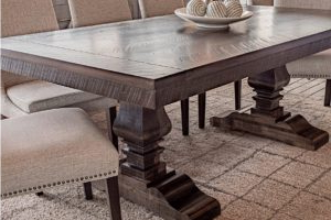 Solid Maple Double Pedestal Dining Table – Joshua Creek In Most Current Tylor Maple Solid Wood Dining Tables (View 9 of 25)