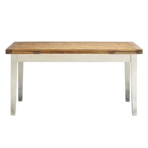 Solid Poplar Extending Dining Table L (View 20 of 25)