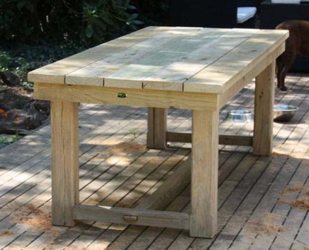 Solid Posted Wooden Table – Treated Pine F7 Kiln Dried In Fashionable Febe Pine Solid Wood Dining Tables (View 17 of 25)