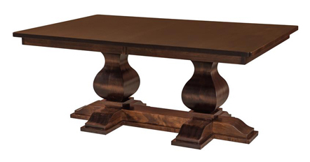 Solid Wood Double Pedestal Dining Table With Regard To Pedestal Dining Tables (View 16 of 25)