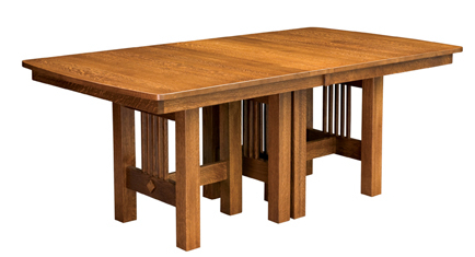 Solid Wood Trestle Dining Table (View 14 of 25)