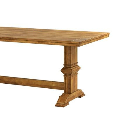 South Hill Farmhouse Extendable Trestle Base Dining Table Intended For Most Popular Hemmer 32'' Pedestal Dining Tables (View 5 of 25)