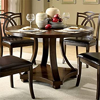 Steven 55'' Pedestal Dining Tables In Newest Amazon – Acme 16250 Drake Espresso Round Dining Table (View 6 of 25)