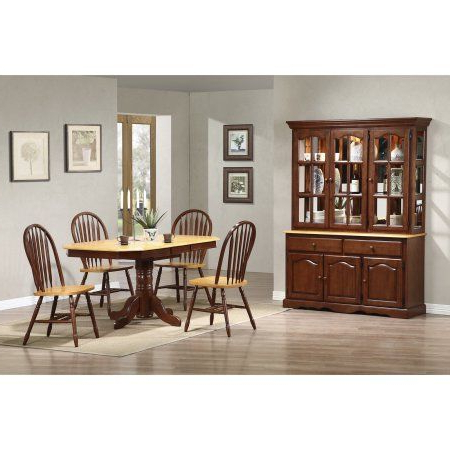 Sunset Trading 6 Piece Pedestal Extension Dining Set With Intended For Current Andreniki Bar Height Pedestal Dining Tables (View 10 of 25)