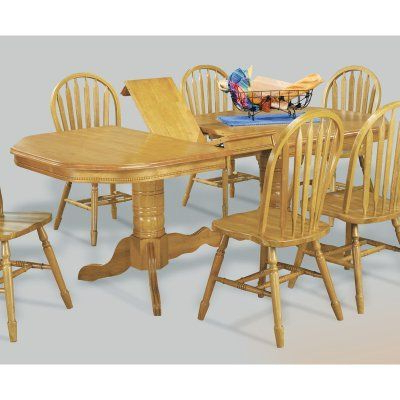 Sunset Trading Double Pedestal/trestle Dining Table Within 2019 47'' Pedestal Dining Tables (View 20 of 25)