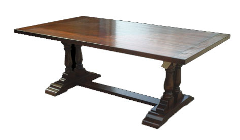 T32 Twin Pedestal Refectory Dining Table For 2019 Hemmer 32'' Pedestal Dining Tables (View 13 of 25)
