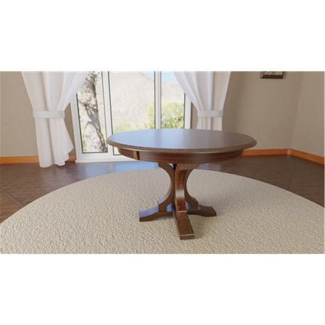 Tabor 48'' Pedestal Dining Tables For Widely Used Gatlin Single Pedestal Round 48 Inch Table (View 24 of 25)