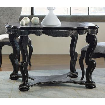 Tabor 48'' Pedestal Dining Tables Intended For Widely Used Hooker Furniture Mélange 48 Inch Bohemian Black Croc (View 25 of 25)