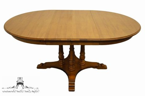 """Tell City Furniture Colonial Style 47"""" Round Pedestal Throughout Well Known Corvena 48'' Pedestal Dining Tables (View 13 of 25)"""