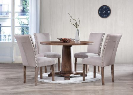 The Carey Dining Set Features An Antique Natural Oak Color Regarding Latest Dixon 29'' Dining Tables (View 4 of 25)