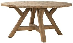 """Trendy 63"""" Bruno Dining Table Solid Hardwood Round Indoor/outdoor Inside Bekasi 63'' Dining Tables (View 11 of 25)"""