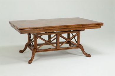Trendy 8763b Rectangular Dining Table With Pedestal (View 16 of 25)