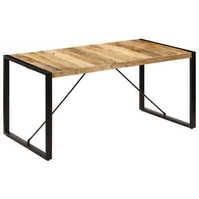 """Trendy Alfie Mango Solid Wood Dining Tables Throughout Vidaxl Dining Table 63""""x31.5""""x (View 10 of 25)"""