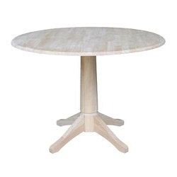 Trendy Boothby Drop Leaf Rubberwood Solid Wood Pedestal Dining Tables Throughout Canora Grey Angelia Extendable Drop Leaf Rubberwood Solid (View 19 of 25)