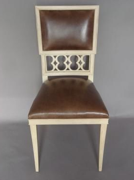 Trendy Elise Figure 8 Side Chair Shown In Weathered Parchment Pertaining To Mcloughlin Dining Tables (View 5 of 25)