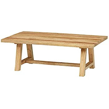 Trendy Minerva 36'' Pine Solid Wood Trestle Dining Tables In Amazon: Stone & Beam Industrial Coffee Table With (View 8 of 25)