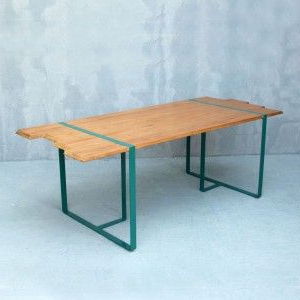 Trendy Pin On Wood And Steel Tables In Isak (View 5 of 25)
