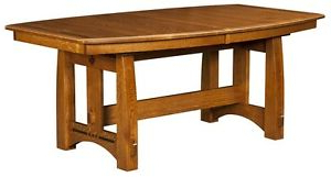 Trestle Dining Tables Inside Fashionable Amish Mission Craftsman Trestle Dining Table Solid Wood (View 10 of 25)