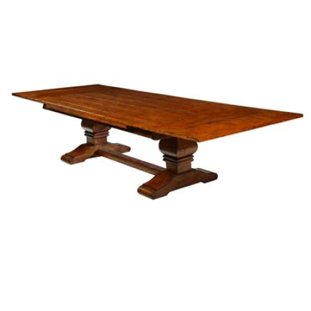 Trestle Draw Top Dining Table Pertaining To Well Liked Kara Trestle Dining Tables (View 2 of 25)