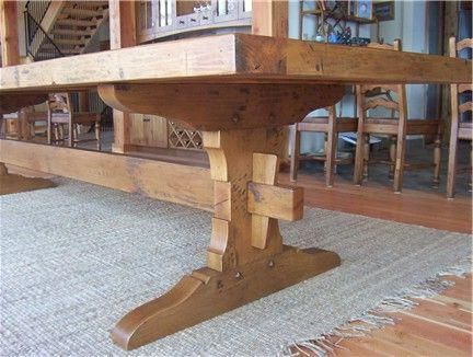 Trestle Table Plans – Google Search #buildwoodtable Regarding Trendy Alexxes 38'' Trestle Dining Tables (View 10 of 25)