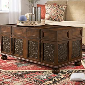 Trunk Style Coffee Table, Modern Storage Trunk Table With Popular Sapulpa (View 20 of 25)