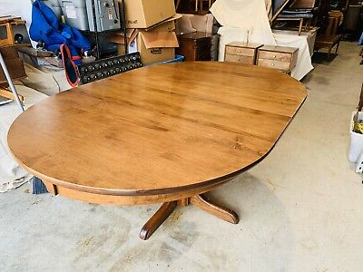 Tylor Maple Solid Wood Dining Tables For Widely Used Beautiful Vintage Sprague & Carleton Solid Rock Maple (View 8 of 25)