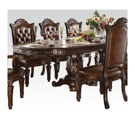 Vendome Cherry Double Pedestal Dining Table With Regard To Newest Villani Pedestal Dining Tables (View 9 of 25)