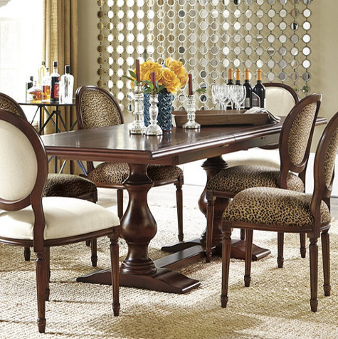 Vendome Double Pedestal Table – Traditional – Dining In Preferred Villani Pedestal Dining Tables (View 8 of 25)