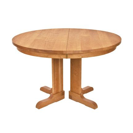Vermont Traditions Split Pedestal Extension Table Within Well Known Gaspard Maple Solid Wood Pedestal Dining Tables (View 2 of 25)