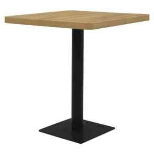 """Vidaxl Bistro Table Oak Color 31.5"""" Mdf And Steel Kitchen Pertaining To Recent Granger (View 2 of 25)"""