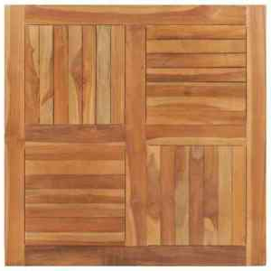 """Vidaxl Solid Teak Wood Table Top Square 35.4"""" Dining In Widely Used Akito (View 25 of 25)"""