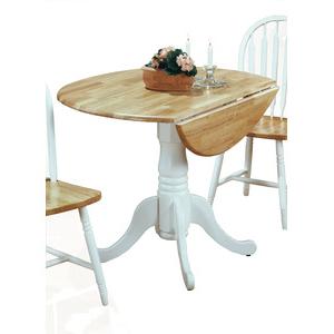 Villani Drop Leaf Rubberwood Solid Wood Pedestal Dining Tables For 2020 5140wtdt Drop Leaf Pedestal Table (View 7 of 25)