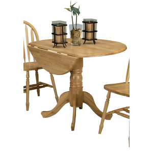 Villani Drop Leaf Rubberwood Solid Wood Pedestal Dining Tables Within Newest 5140nadt Drop Leaf Pedestal Table (View 5 of 25)