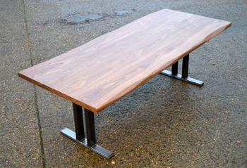 Villani Pedestal Dining Tables Regarding Most Popular 10 Seater Walnut Dining Table W/ Steel Pedestal Base (View 25 of 25)
