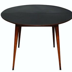 """Vintage Mid Century 42"""" Dining Table Opens Up 1 Leave Top Within Trendy Darbonne 42'' Dining Tables (View 5 of 25)"""