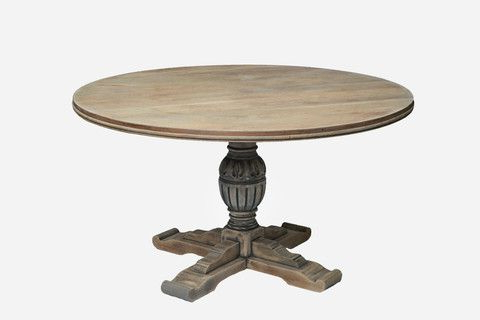 Vintage Oak Pedestal Dining Table – Sassy Hardwick Throughout Fashionable Servin 43'' Pedestal Dining Tables (View 15 of 25)