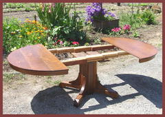 Voorhees Craftsman Mission Oak Furniture – Original In Most Recently Released Dawna Pedestal Dining Tables (View 23 of 25)