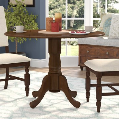 Wayfair Pertaining To Rubberwood Solid Wood Pedestal Dining Tables (View 14 of 25)