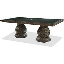 """Well Known 47'' Pedestal Dining Tables Regarding 44"""" X 84"""" Double Pedestal Dining Table W/ Glass (View 16 of 25)"""