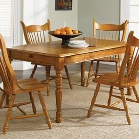 Well Known 49'' Dining Tables Throughout Wood Dining Table With Apron Molding And Turned Legs (View 10 of 25)