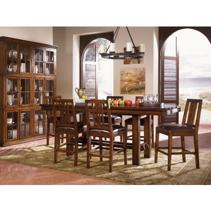 Well Known A America Mesa Rustica Gathering Trestle Dining Set In For Nashville 40'' Pedestal Dining Tables (View 19 of 25)